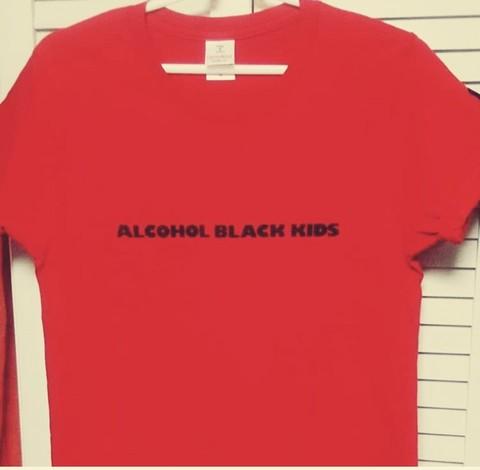 ALCOHOL BLACK KIDS T-Shits RED