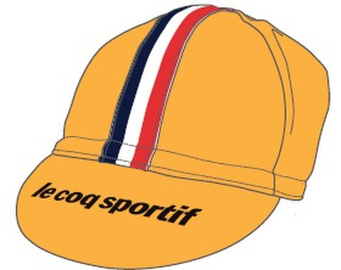 TOJ × le coq sportifコラボサイクルキャップ<イエロー>