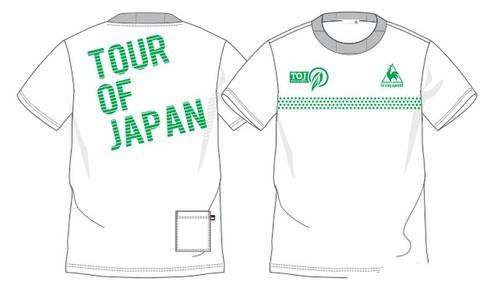 TOJ × le coq sportif コラボバックロゴTシャツ(ポケット付)<WT×GR>