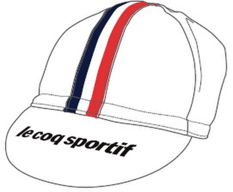 TOJ × le coq sportifコラボサイクルキャップ<ホワイト>