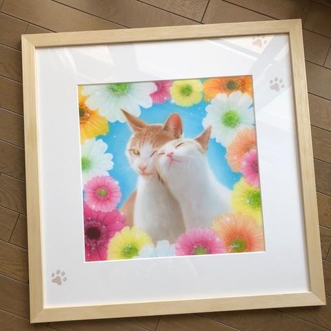 エアブラシ肖像画 超高級タイプ(カラー)60cm角