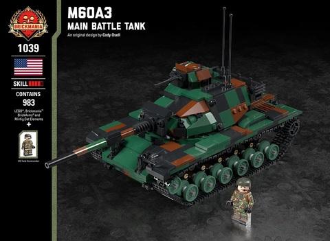 アメリカ軍M60A3重戦車(NATOトライカラー仕様)