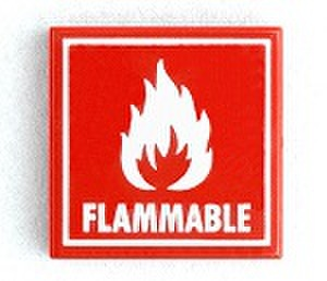 タイル:FLAMMABLE