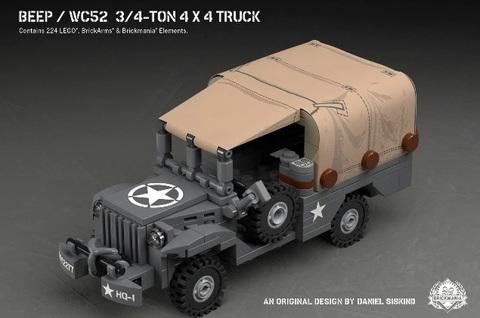 アメリカ軍 Beep-WC52 3/4ton 4x4 トラック