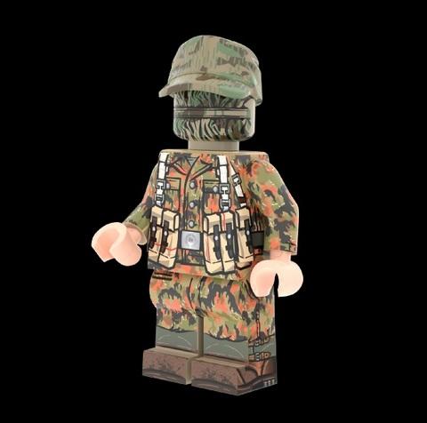 WWIIドイツ軍兵士(ライバーマスターカモ)