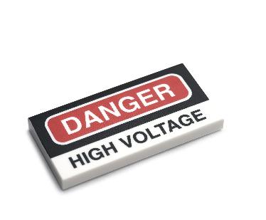 タイル:高電圧危険
