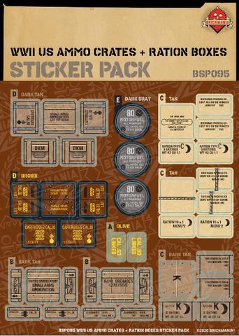ステッカーパック:WWII US 弾薬箱、レーションボックス