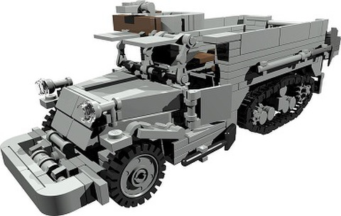 【PDF説明書データ】 米軍M3 USハーフトラック 兵員輸送型