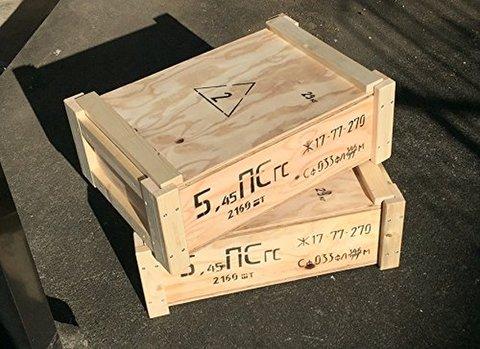 ロシア軍弾薬箱 木箱 5.45mm