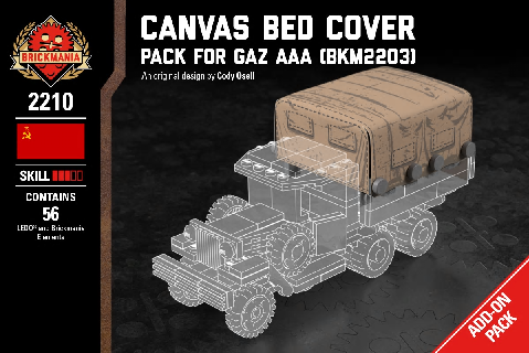 WWII ロシアントラック GAZ.AAA専用 幌