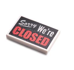 タイル:閉店