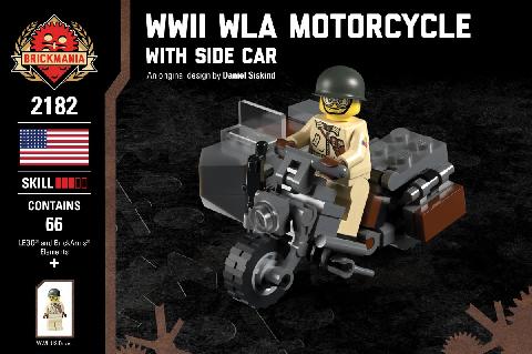 WWII WLA バイク サイドカー付き