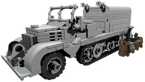 【PDF説明書データ】 Sd.Kfz. 9 ドイツ軍ハーフトラック 重牽引仕様