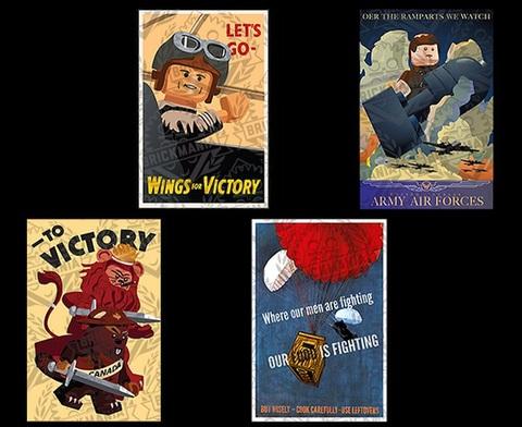 WWII プロパガンダ ポスター タイルパックV2