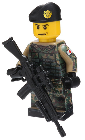 陸上自衛隊カスタムフィグ JGSDF LEGOのフィグを使用