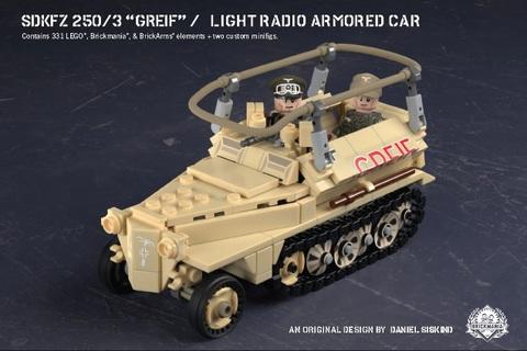 """ドイツ軍 SdKfz 250/3 """"Greif"""" - 無線指揮装甲車"""