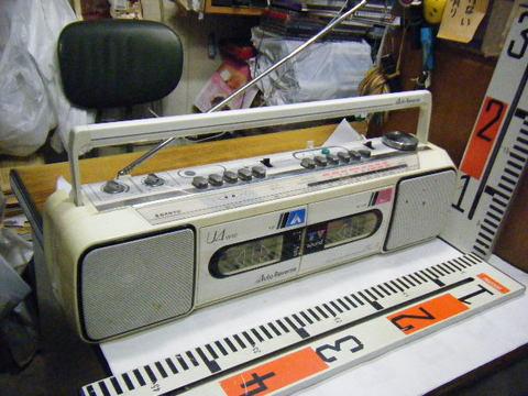 SANYO ステレオ ラジオ ダブルカセット レコーダーU4-W40(W)