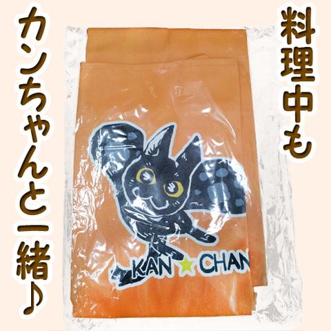飛びつきカンちゃんエプロン(オレンジ)