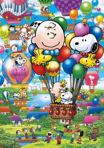 A3Square balloonに乗ったスヌーピー