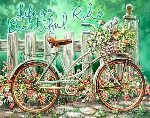 【6-9】A3サイズsquare 花篭の自転車