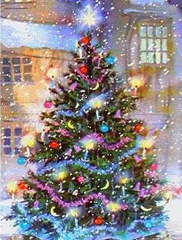 A2 Round クリスマスツリー
