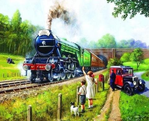 【6-3】A2 機関車に手をふる人