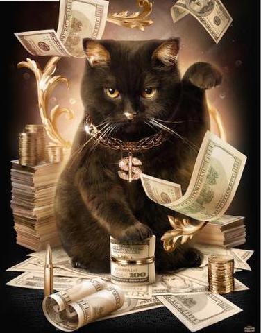 【1-3】A3 金運アート 招き猫