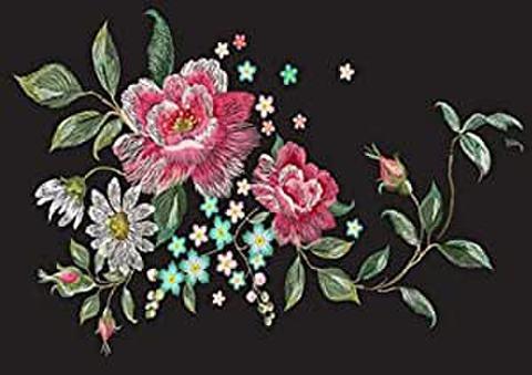 B4 バラ刺繍とファッション花柄