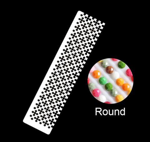 丸型定規(市松模様仕様ハーフサイズ)ダイヤモンドアート