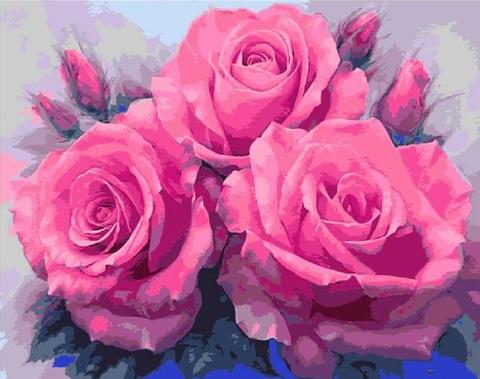 【2-25】初心者応援♡A4額付き!3輪のバラの花 プレゼントに最適!