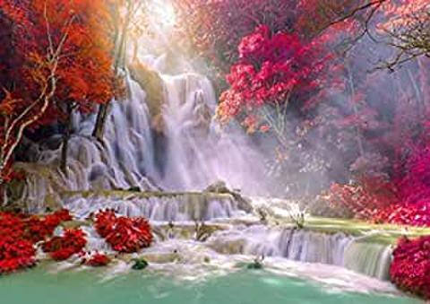 A2 雨林の滝(洛陽プラバン)のダイヤモンドアート(Round)/ビーズアート(KIC-a2-4-107)
