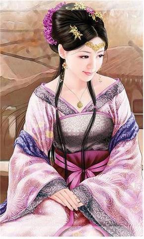 【d10111】中国古典女子とペンダント