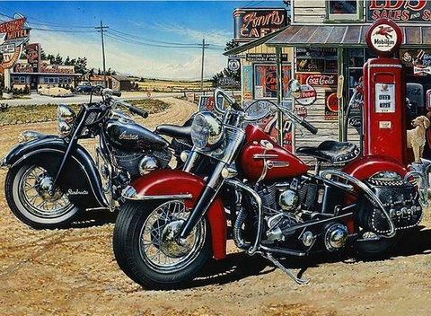 【6-4】A2 Square 赤と黒のバイク