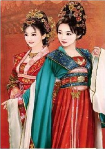【5-29】A2 Squara 中国の人 ふたりの女性 ダイヤモンドアート