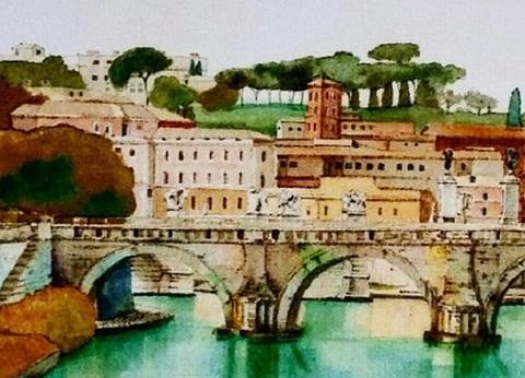 【tei79】A3  ローマ・テヴェレ川とバチカン