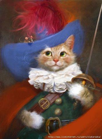 【1-140】A3 Square 可愛い猫剣士