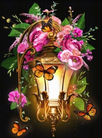 【8-1】A3サイズsquare 花と北米風ライト