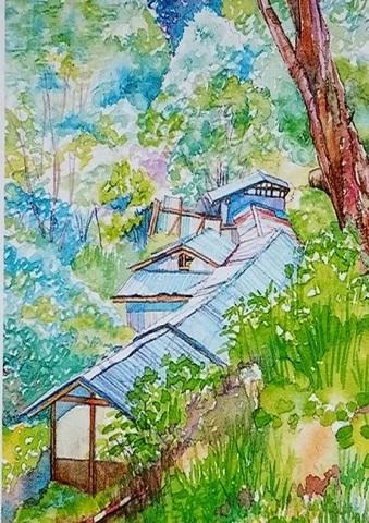 【tei80】A3  福島県・二岐温泉