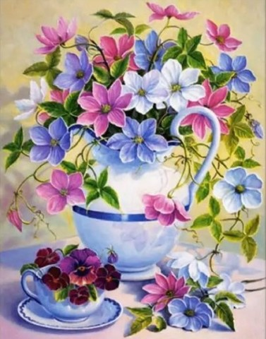 【2-14】A3 クレマチスの花