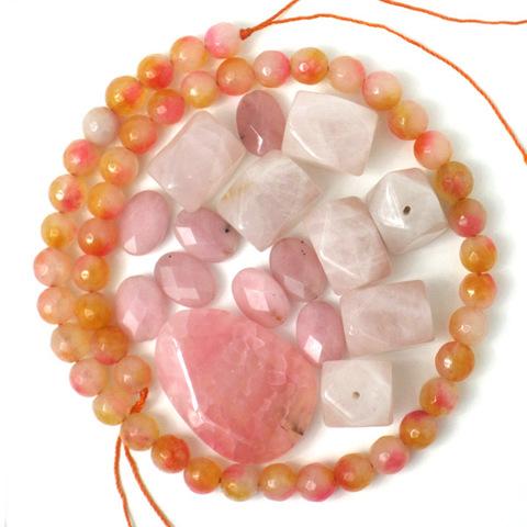 天然石*ピンクオレンジミックス