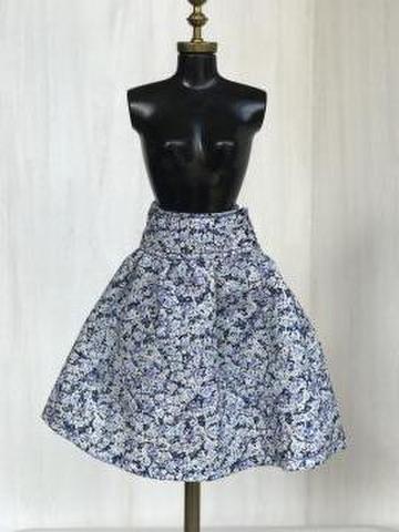 大人可愛いスカート(ブルー)