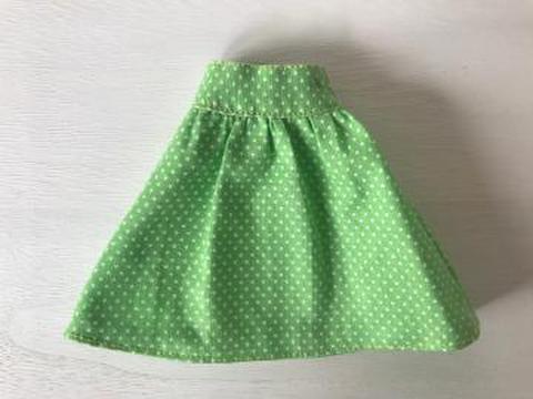 大人可愛いスカート(アップルグリーン)