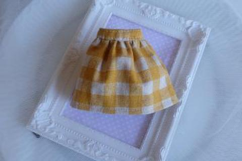 普段着の水玉スカート(オレンジ)