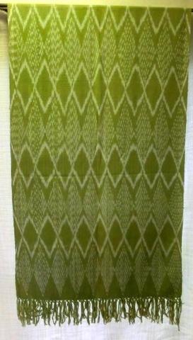草木染め大判布(コットン)・緑