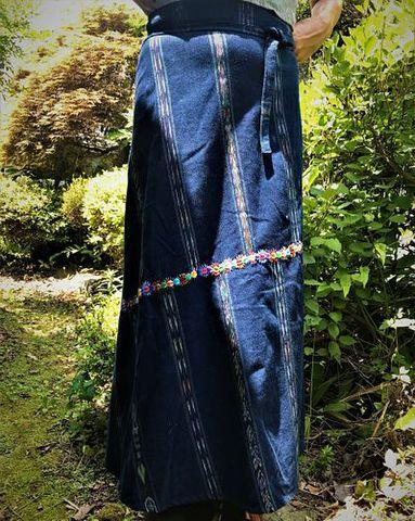 マヤン巻スカート 藍