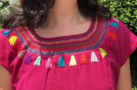 マヤンブラス チャムラ―村 手刺繍 半袖