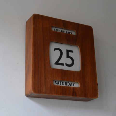銀行の壁掛けカレンダー(小さい方)