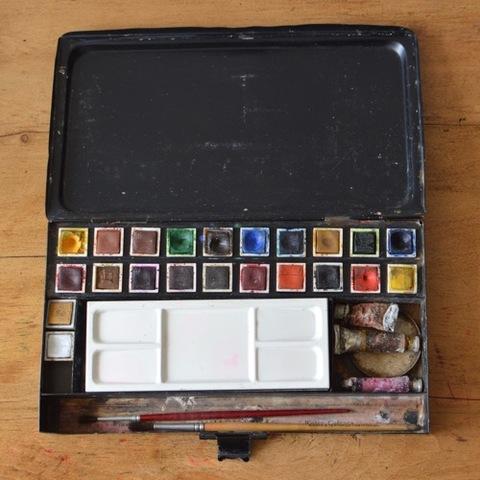 水彩絵の具のセット「ウィンザー&ニュートン」