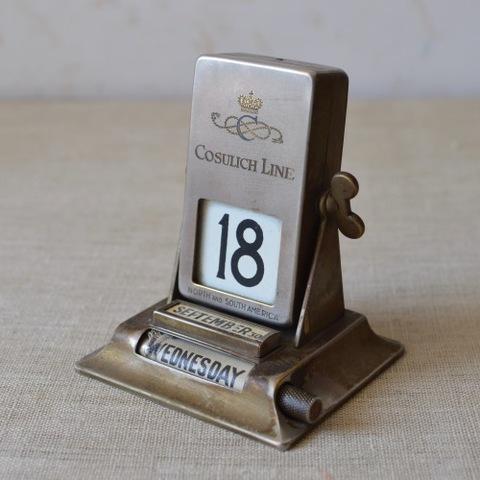 回転式ブラスカレンダー「Cosulich Line」