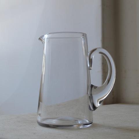 吹きガラスのウォータージャグ(太いハンドル)